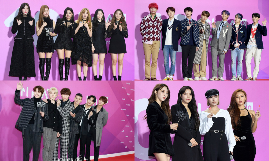 Melon Music Awards 2018 A Parade In Black Glimmer And Other Hues
