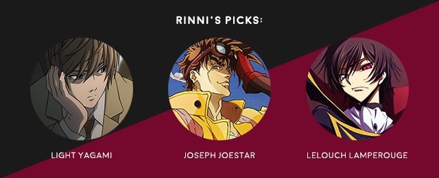 favourite anime male leads rinni