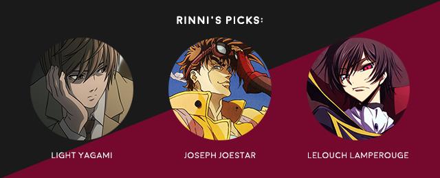 favourite anime male leads rinni